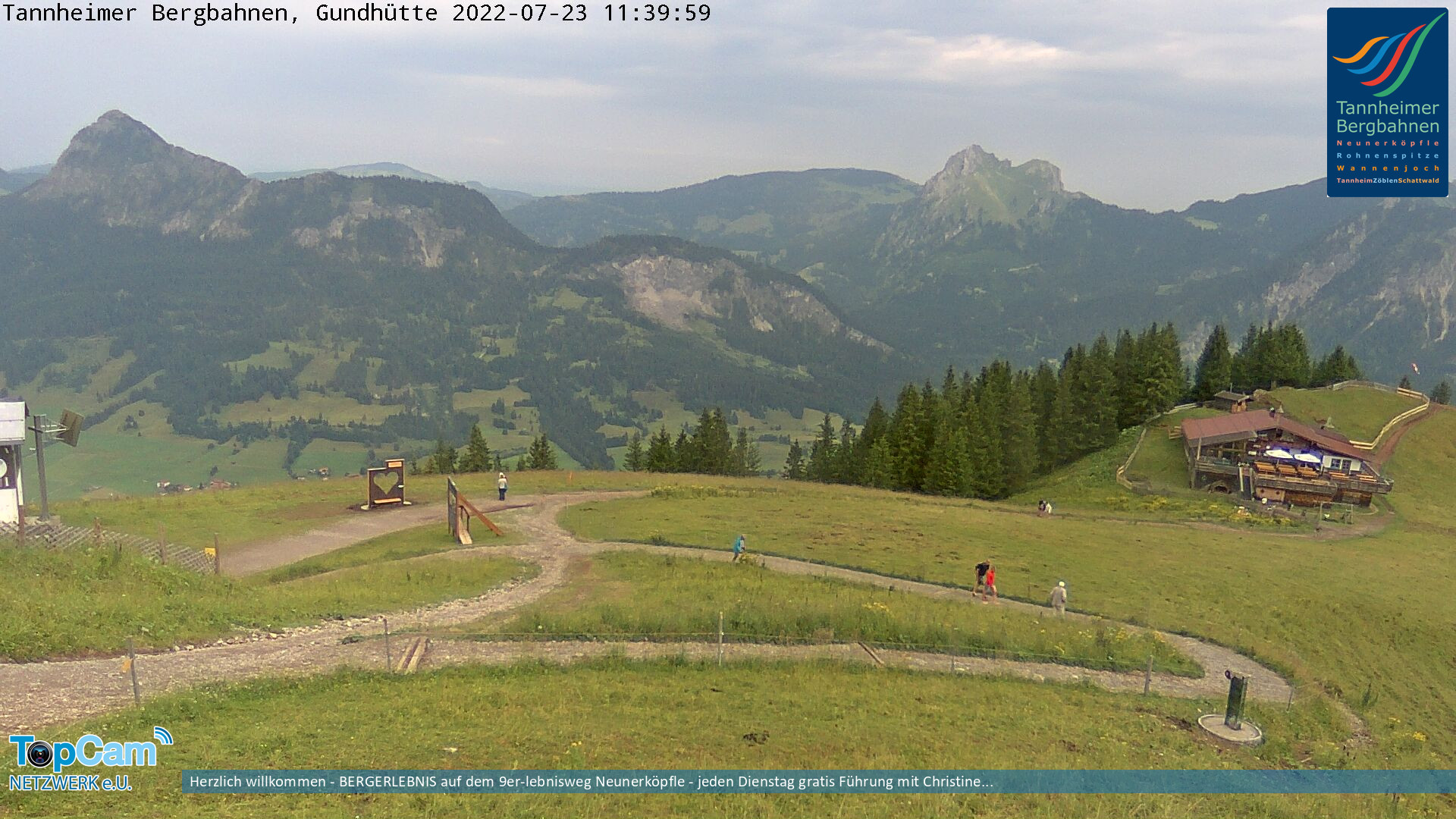 Webcam Tannheimer Tal Neunerkoepfle